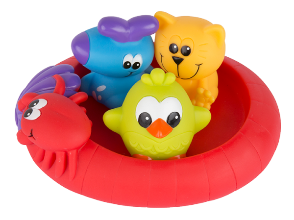 Badespielzeug Schwimmende Freunde - wasserdicht-schmutzfrei