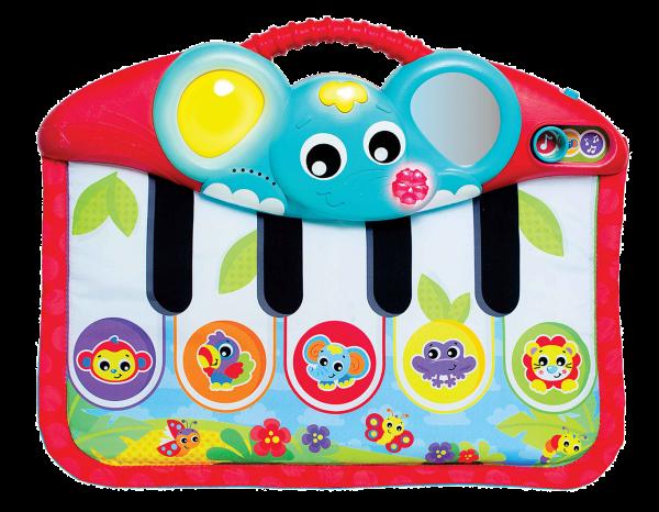 Füßchenklavier mit Musik und Lichteffekten