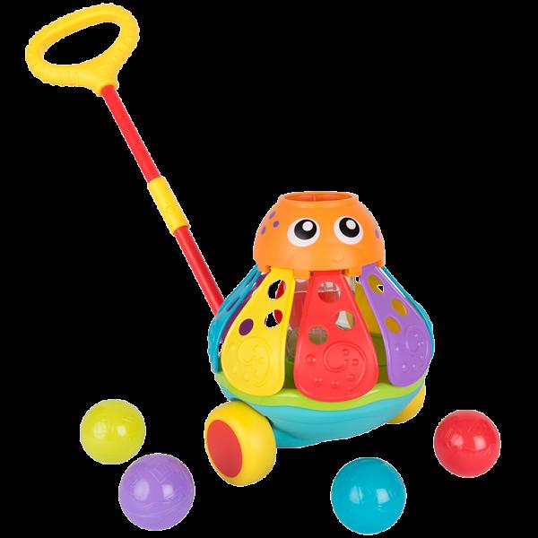 Schiebetier Oktopus mit Bällespiel